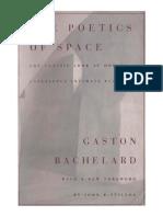 Bachelard Gaston the Poetics of Space 1994
