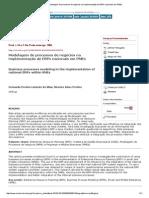 Production - Modelagem de Processos de Negócios Na Implementação de ERPs Nacionais Em PMEs