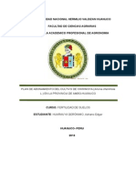 Plan de Produccion Chirimoya Ambo Huanuco