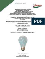Análisis de Objeto Técnico La Lampara Incandescente