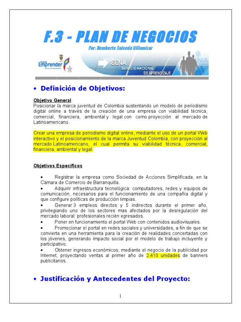 Oliver.f3 Plantilla en Word Para Plan