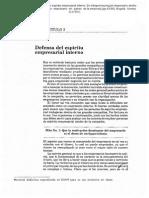 Defensa del espíritu empresarial interno