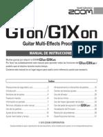 ZOOM G1on-G1Xon manual de usuario