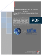 trminos y condiciones de uso del portal www gestionhumanaonline