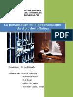 La Penalisation Et La Depenalisation Du Droit Des Affaires