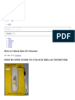 How to Unlock Idea 3G Netsetter - Paul Shaiju