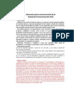Autocorrección Evaluación Promocional 2012