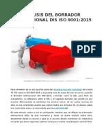 Análisis Del Borrador Internacional Dis Iso 9001 2015