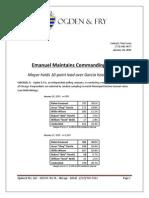 Tom Swiss Weekly Mayoral Poll