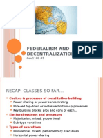 5 Gov1109 Federalism and Decentralization