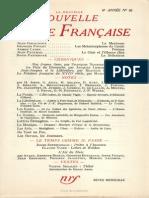 La Nouvelle Nouvelle Revue Francaise n 66 Juin 1958