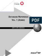 Arbor BP 9-1 Database Reference Volume 1