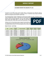 TARGET TECHNICAL REVIEW OF NIGERIA STOCK EXCHANGE  FOR THE WEEK ENDED 23 JANUARY 2015