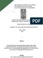 Metodologia de La Investigacion - Proyecto de Tesis i - Juan Carlos Dominguez Mayhuay- 5 Enero 2015 - Ppt