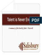 Talent is Never Enough preview