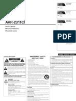 AVR2311CI Manual