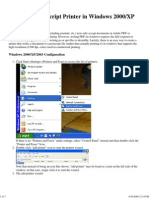 Postscript Printer Tutorial