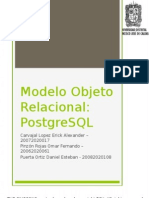 Presentación Postgresql Modelo Objeto Relacional
