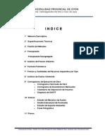 INSTALACION DE LA PAVIMENTACION DE LA CALLE PRINCIPAL Y PLAZA DE ARMAS DEL C.P. SAN SEBASTIAN DE TINTA-OYON-OYON-LIMA