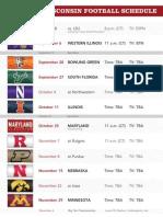Badgers Schedule 2014-2015