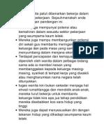 Golongan wanita patut dibenarkan bekerja dalam semua sektor pekerjaan.docx