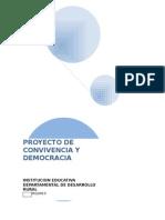 Proyecto Convivencia y Democracia 2013