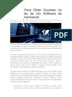 5 Dicas Para Obter Sucesso na Implanta+º+úo de Um Software de Gest+úo Empresarial