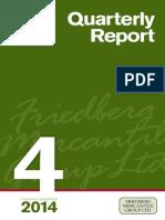 Fourth Quarter FMG - Quarterly Report