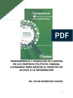 Manual Ciudadano Para Ejercer El Derecho de Acceso a La Información de Los Partidos Políticos
