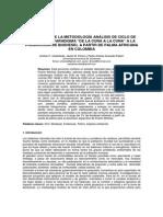 """Aplicación de La Metodología Análisis de Ciclo de Vida Con El Paradigma """"de La Cuna a La Cuna"""" a"""