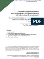 La influencia de Ronald Dworkin en la jurisprudencia del Tribunal Electoral del Poder Judicial de la Federación  [Pdf]