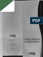 Guía Para La Presentación de Trabajos Académicos - UExternado