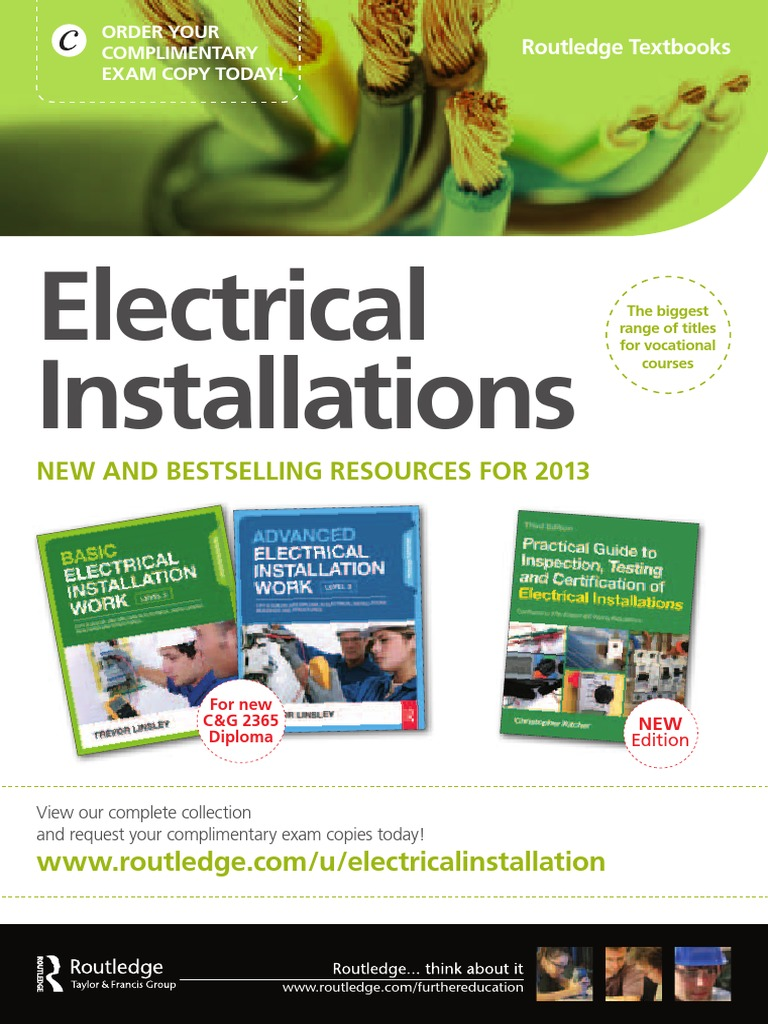 17th edition iet wiring regulations design and verification of electrical installations 8th ed scaddan brian
