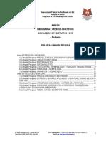 BIBLIOGRAFIA E CRITÉRIOS ESPECÍFICOS DA SELEÇÃO DO PPGLET/UFRGS