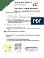 Boletin de preguntas sobre fuerza magnetica, induccion de Faraday