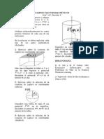 Ejercicios sobre solucion de Laplace para potencial electrico
