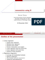 Introduction Econometrics R