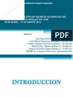 INTERVENCION EDUCATIVA EN PACIENTES ALCOHOLICOS