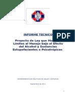 Informe Tecnico - Manejo y Alcohol