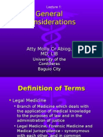 Forensic Medicine (Lec 1 - General Considerations)