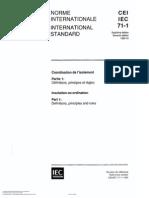 Coordinación de Aislamiento IEC 71-1 Inglés