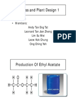 Ethyl Acetate Process and Plant Design Presentation