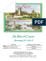 St. Rita Parish Bulletin 1/125/2015