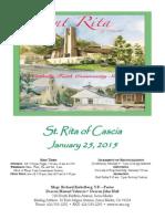 St. Rita Parish Bulletin 1/125/2015