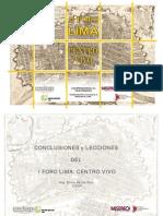 Relatoría Foro Lima Centro Vivo 2009