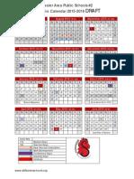 2015-16 School Calendar Option 2