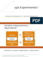 Variable Independiente y Dependiente