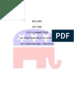 Chesapeake GOP Bylaws