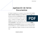 Modelo de Legalizacion de Varios Documentos