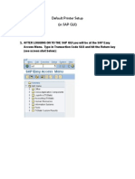 SAP Default Printer SetupDefault Printer Setup
